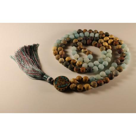 Mala náhrdelník přírodní kameny